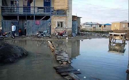 آخرین وضعیت از شهر گمیشان / تلاش برای تخلیه کامل آب ادامه دارد
