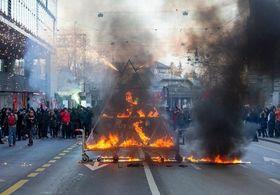 تظاهرات مخالفان اجلاس داووس در شهر برن سوئیس