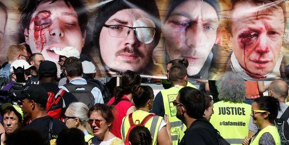 اعتراض صدها نفر از مردم پاریس  به خشونتهای پلیس+ عکس