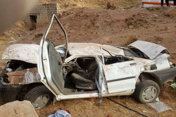 6 کشته در اثر واژگونی پراید در بروجرد