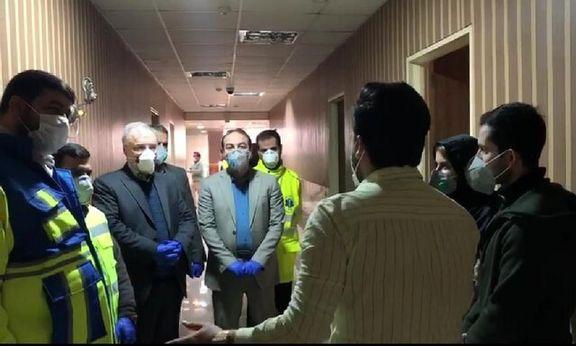 حضور وزیر بهداشت در محل قرنطینه دانشجویان ایرانی+ عکس