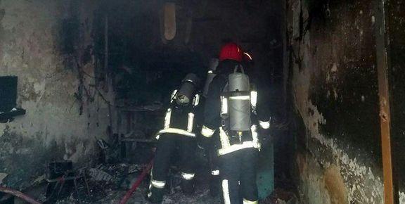جزئیات آتش سوزی در یک ساختمان 5 طبقه در نارمک