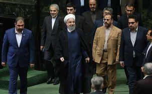 حسن روحانی برای تقدیم لایحه بودجه وارد مجلس شورای اسلامی شد