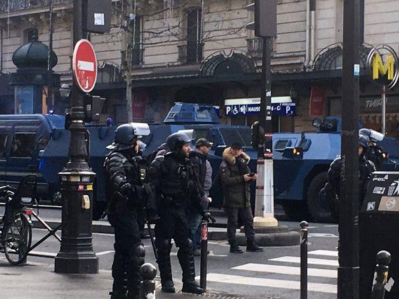تصاویری از اشغال خیابان های پاریس توسط پلیس + تصاویر