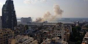 ویدیویی از انفجار مهیبی امروز در بیروت + فیلم